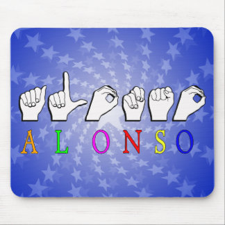 MUESTRA CONOCIDA DE ALONSO FINGERSPELLED MOUSE PAD
