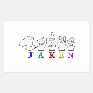 MUESTRA CONOCIDA DE JAKEN FINGERSPELLED ASL RECTANGULAR ALTAVOZ