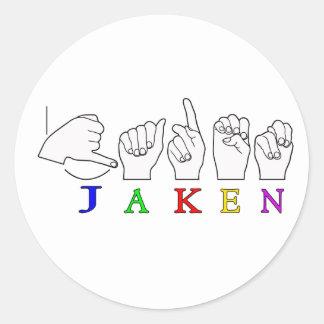MUESTRA CONOCIDA DE JAKEN FINGERSPELLED ASL ETIQUETA