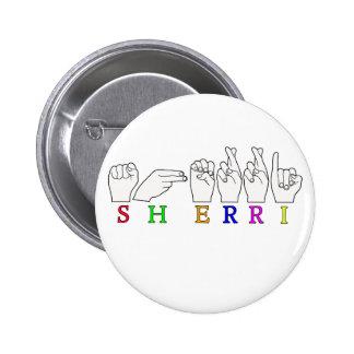 MUESTRA CONOCIDA DE SHERRI ASL FINGERSPELLED PINS