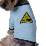 Muestra corrosiva amonestadora ropa perro