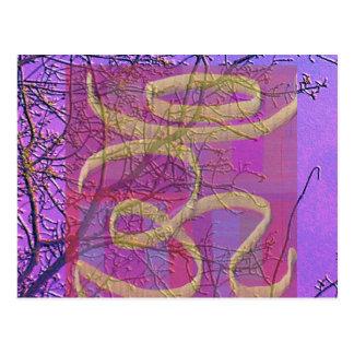 Muestra curativa universal de OM - pantalla de Tarjeta Postal