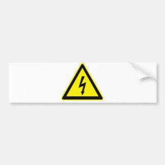Muestra de alto voltaje etiqueta de parachoque
