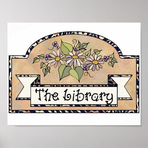 Muestra de biblioteca del tamaño del poster
