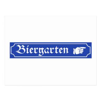 Muestra de Biergarten, Baviera, Alemania Tarjetas Postales