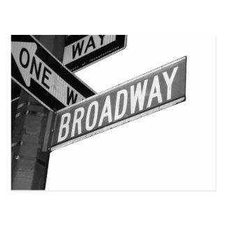 Muestra de Broadway Postales
