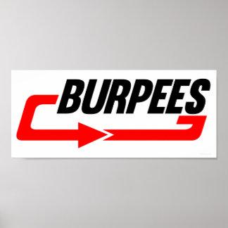 Muestra de Burpees Poster