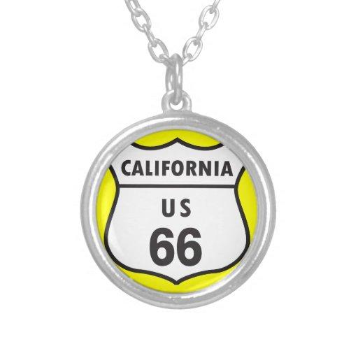 Muestra de California los E.E.U.U. 66 Pendiente Personalizado