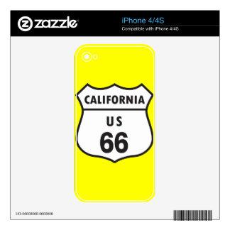 Muestra de California los E.E.U.U. 66 Calcomanías Para El iPhone 4