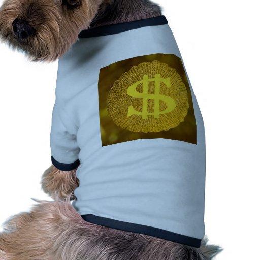 muestra de dólar camiseta con mangas para perro