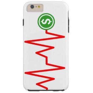 Muestra de dólar común de la carta funda resistente iPhone 6 plus