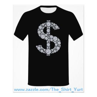 Muestra de dólar del diamante Bling Tarjetones