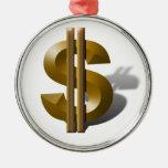 Muestra de dólar del oro ornato