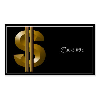 Muestra de dólar del oro tarjetas de visita