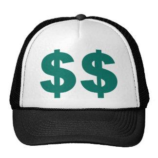 Muestra de dólar doble gorras