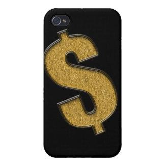 Muestra de dólar encrustada oro iPhone 4 carcasas