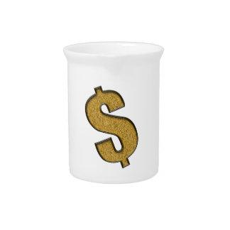 Muestra de dólar encrustada oro jarrones