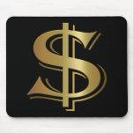 Muestra de dólar Mousepad Tapetes De Ratón