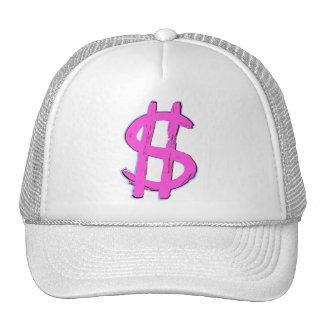 Muestra de dólar rosada gorro de camionero