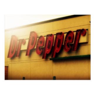 Muestra de Dr. Pepper Tarjetas Postales