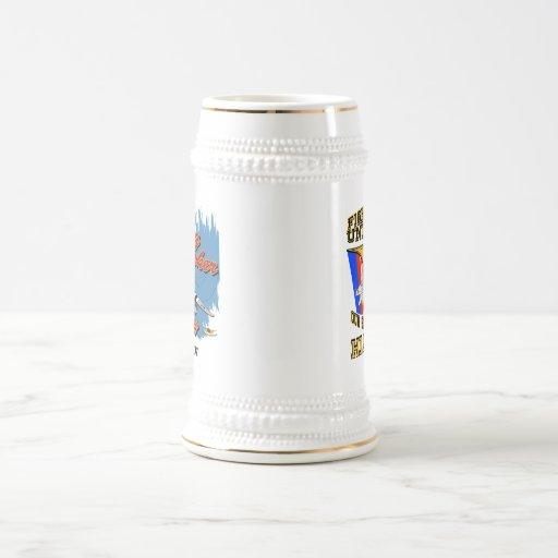Muestra de encargo de Stein w/call de la cerveza d Tazas De Café