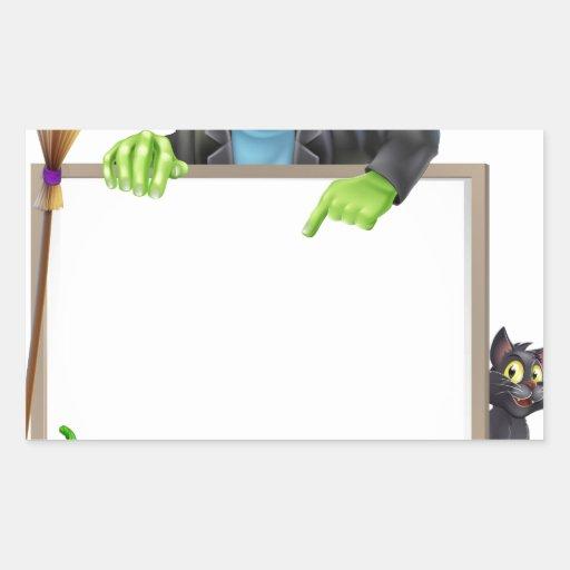 Muestra de Frankenstein Halloween Pegatina Rectangular