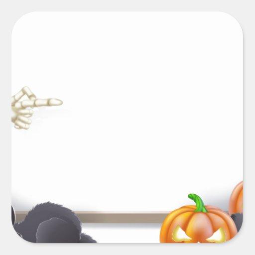 Muestra de Halloween con el esqueleto y Drácula Pegatinas