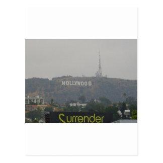 Muestra de Hollywood en las colinas Tarjetas Postales
