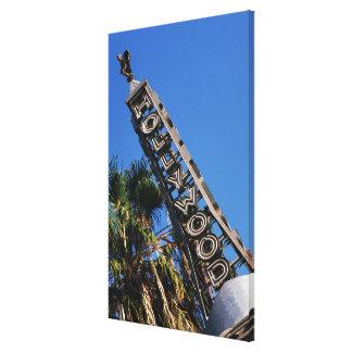 Muestra de Hollywood, Los Ángeles, California Impresión En Tela