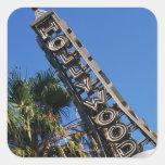 Muestra de Hollywood, Los Ángeles, California Pegatina Cuadrada