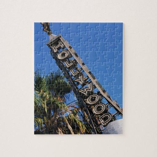Muestra de Hollywood, Los Ángeles, California Puzzle