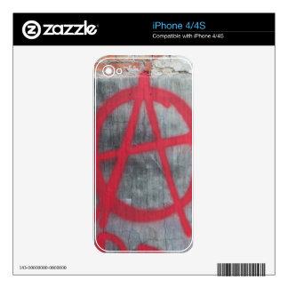 Muestra de la anarquía iPhone 4 skin