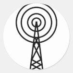 muestra de la antena de la antena pegatina redonda