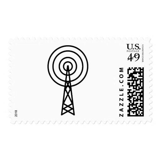 muestra de la antena de la antena sello