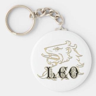 Muestra de la astrología del león de Leo Llavero Redondo Tipo Pin
