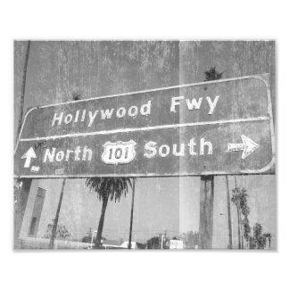 Muestra de la autopista sin peaje de Hollywood Fotografía