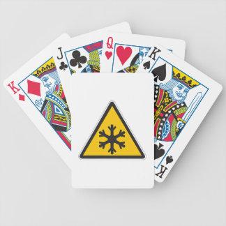 Muestra de la baja temperatura baraja de cartas