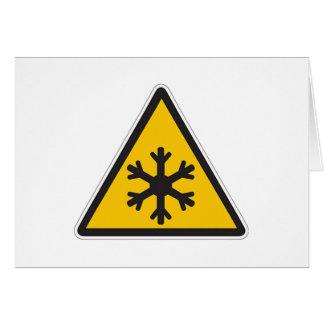 Muestra de la baja temperatura tarjeta de felicitación