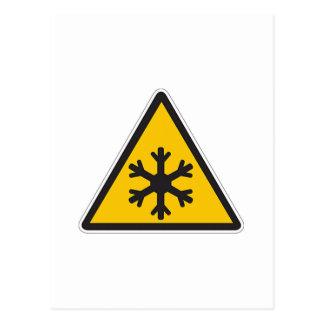 Muestra de la baja temperatura tarjetas postales