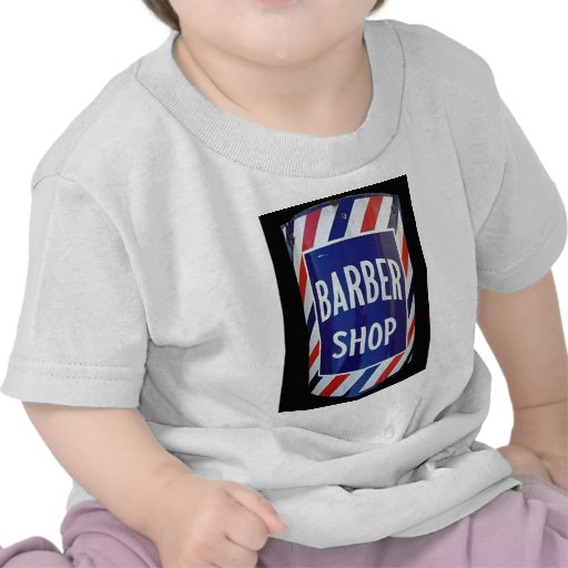 Muestra de la barbería del vintage camisetas
