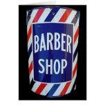 Muestra de la barbería del vintage felicitaciones