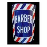 Muestra de la barbería del vintage postal