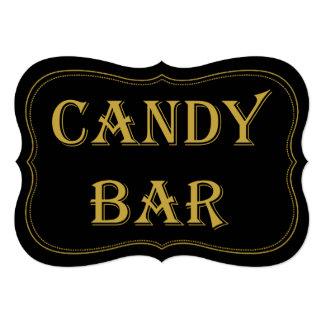 """Muestra de la barra de caramelo del boda de Gatsby Invitación 5"""" X 7"""""""