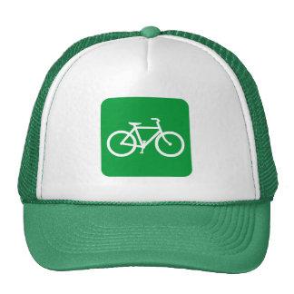 Muestra de la bicicleta - verde de hierba gorra