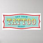 Muestra de la cabina del tatuaje para el cumpleaño poster