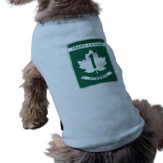 Muestra de la carretera de Alberta, Playera Sin Mangas Para Perro