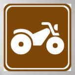 Muestra de la carretera de ATV Poster