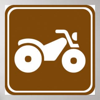 Muestra de la carretera de ATV Póster