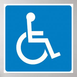 Muestra de la carretera de la accesibilidad de la  posters