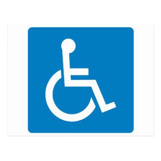 Muestra de la carretera de la accesibilidad de la postal